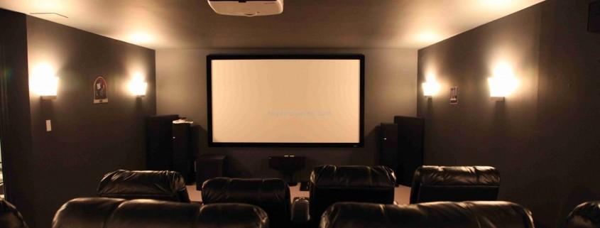 ev sineması projeksiyon perdesi